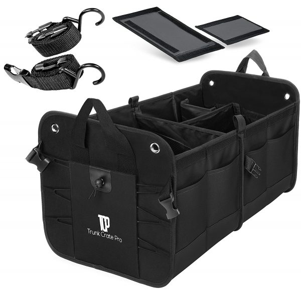4. Trunkcratepro Collapsible Portable Multi Compartments Trunk Organizer