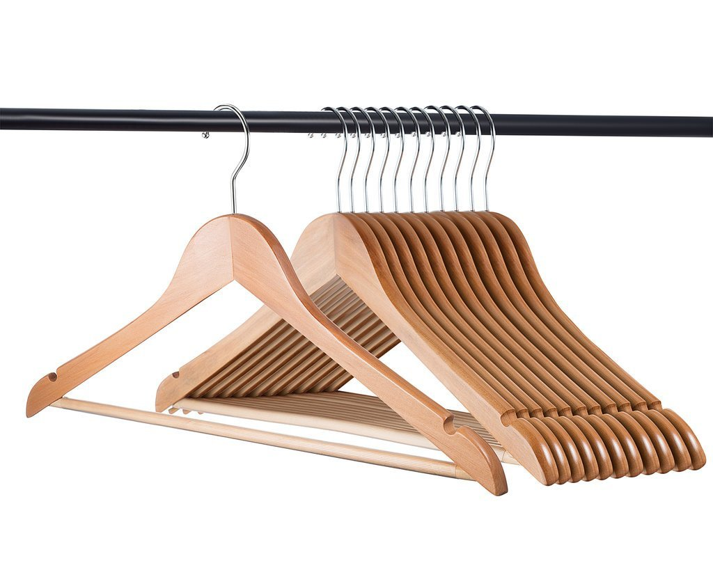 Home-it (24 Pack) Natural wood hangers