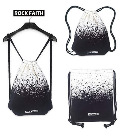 Drawstring Backpack Foldable Cinch Sack Basic Sackpack Gym Tote Dance Bag for Swimming Shopping Sports Women Men Boys Girls