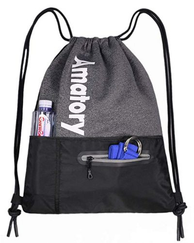 Drawstring Backpack Sports Athletic Cinch Sack Gymsack Sackpack Gym String Bag