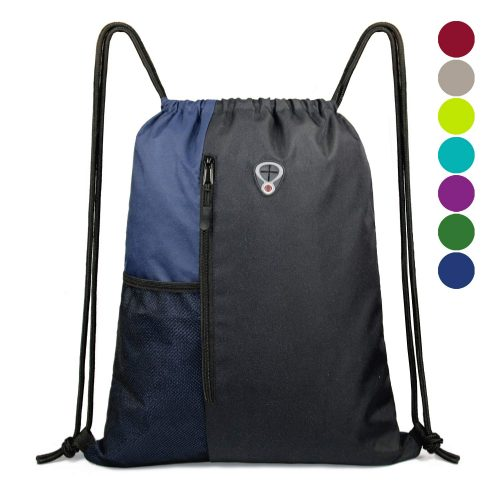 Drawstring Backpack Sports Gym Bag for Women Men Children Large Size