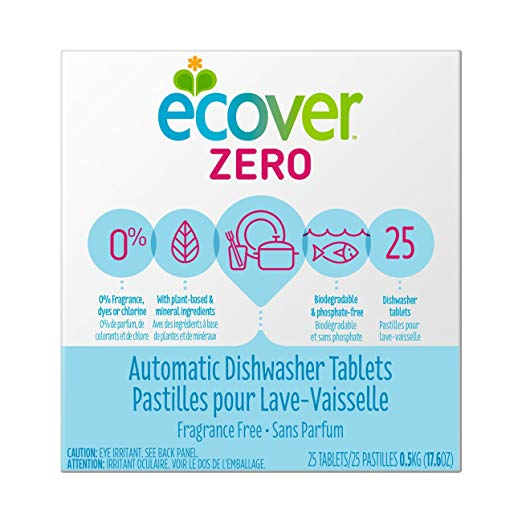 Ecover Automatic Dishwasher Soap Tablets, Zer