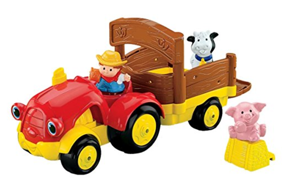 Fisher-Price Baby Little People Tow and Pull Tractor-Best Toy Tractors