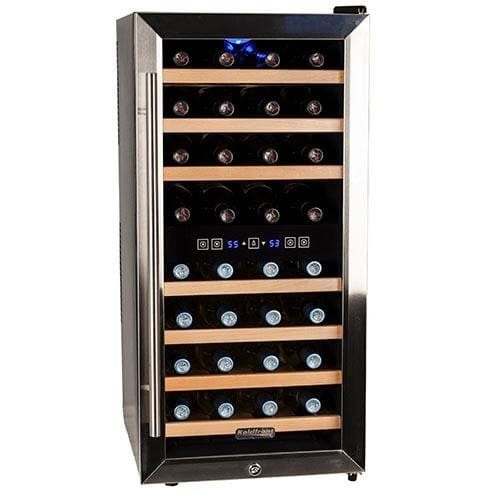 Koldfront 32 TWR327ESS Bottle Free Standing Dual Zone Wine Cooler