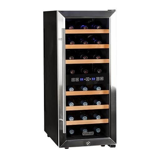 Koldfront TWR247ESS24 Bottle Free Standing Dual Zone Wine Cooler