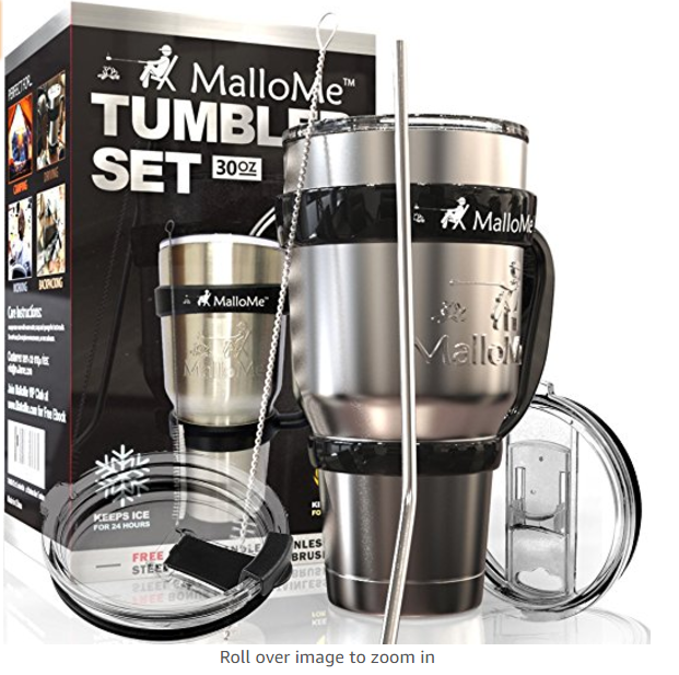 MalloMe Stainless Steel Tumbler Set - Stainless Steel Tumblers