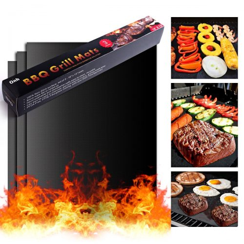 On'h BBQ Grill Mat - Set of 3 Heavy Duty Non-Stick