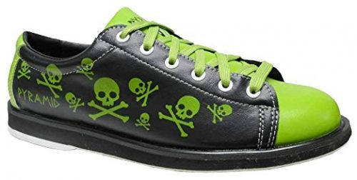 Pyramid Men's Skull Green/Black Bowling Shoes Bowling Shoes For Men