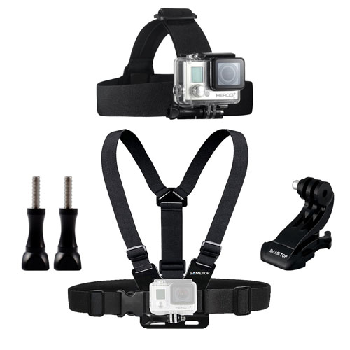 Best GoPro Head Mounts - Sametop Head Strap Mount