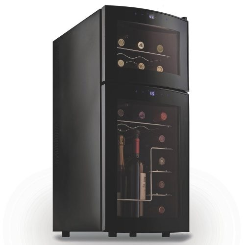 Wine Enthusiast Silent 21 Bottle Dual Zone Wine Refrigerator