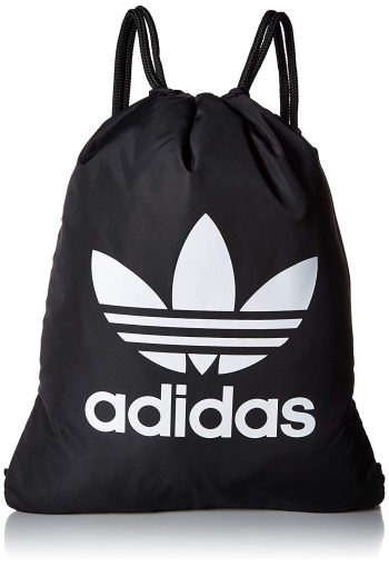 adidas Originals Trefoil Sackpack, Black/White, One Size