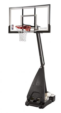 "Spalding NBA Hybrid Portable Basketball System - 60"" Acrylic Backboard:"