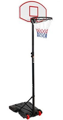 Best Choice Products Portable Kids Junior Height-Adjustable Basketball Hoop Stand Backboard System W/Wheels: