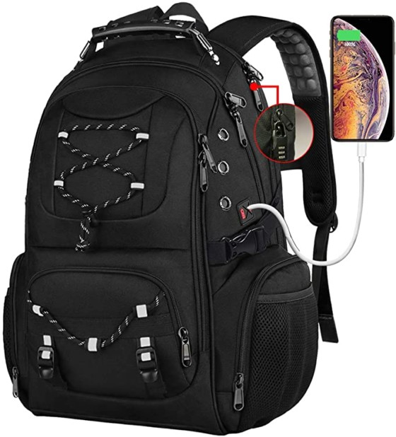 USB Charging Port With 17.3-Inch Laptop Backpack For College