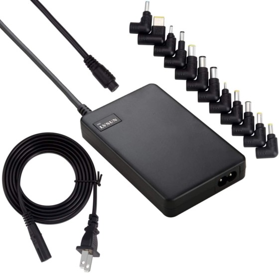 LVSUN Universal 90W Slim Laptop Power Adapter/Charger with Dual USB Ports