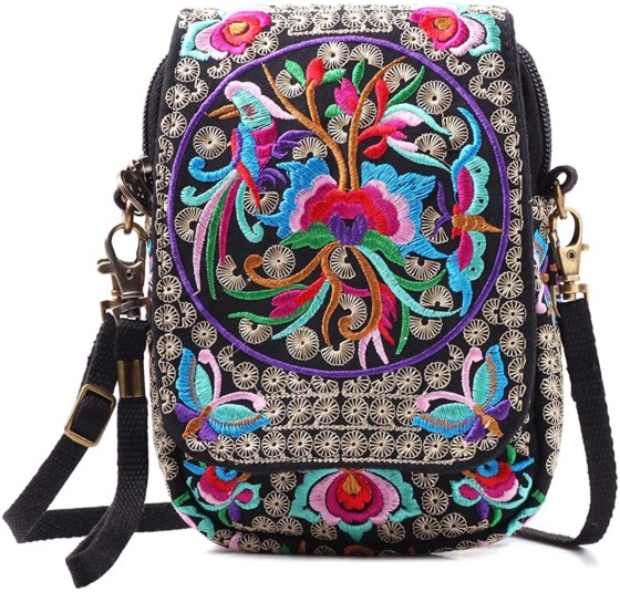 Embroidered Mini Crossbody Bag