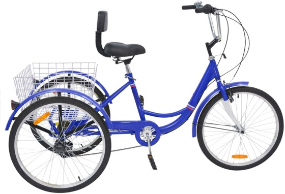 VANELL Tricycle for young and senior with rear basket